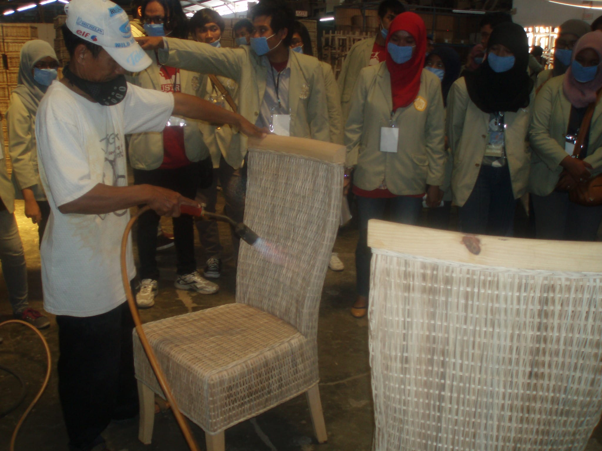 Observation in a rattan industry
